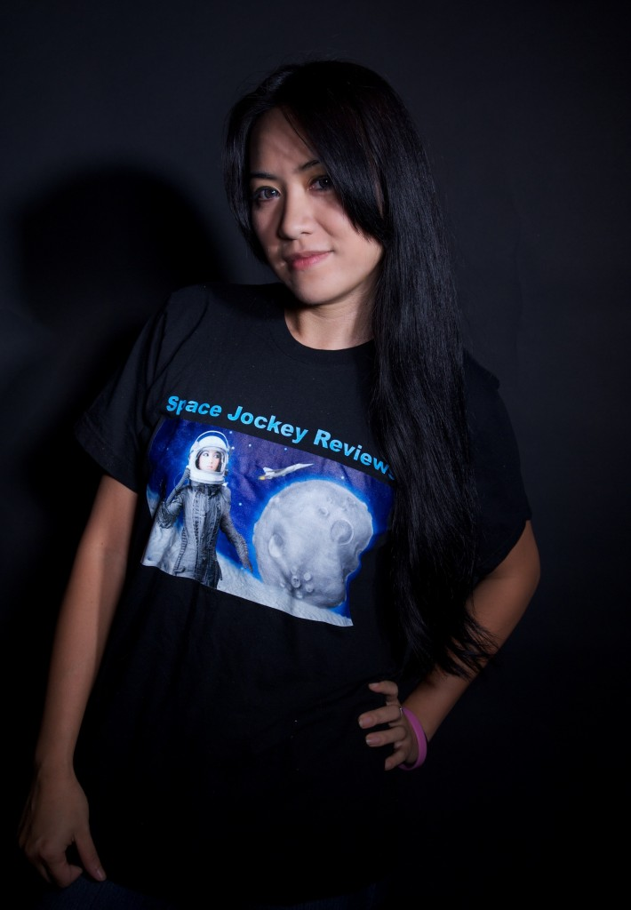 Lien Mya Nguyen in a Space Jockey Review T-Shirt