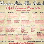 Winter 2014 Macabre Faire Film Festival Nominees