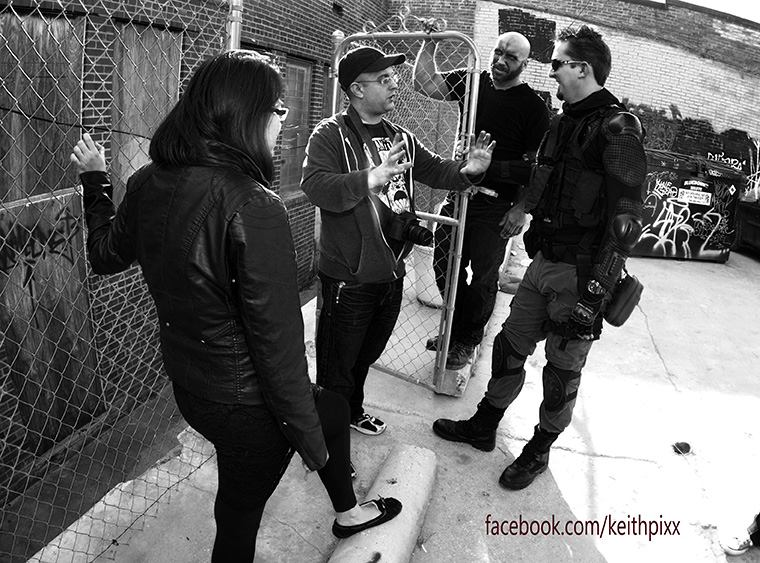 Deadfall-Ground Zero 015 - Writer, producer, and director Remy St. Paul on the set with Lien Mya Nguyen and Darek A. Sanchez