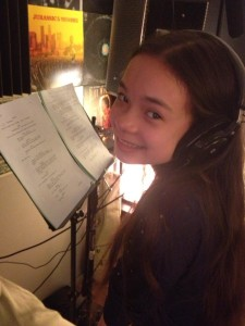 Lucy 010 - Gabrielle Pastore (HAL-E) recording her audio for LUCY. Always a pro