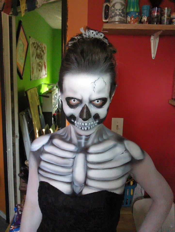 Steve-o ThePhoenix Shephard 021 -  Katrina Gay. Fire-breathing Skeleton