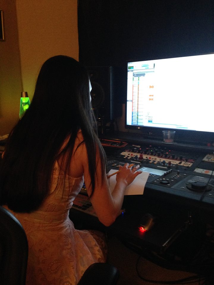 Jennifer Linch Mixing Tracks for Come to Me Lullaby 01